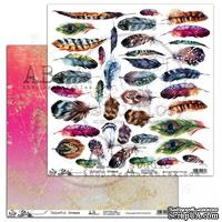 Лист скрапбумаги от ABstudio - Scrapbooking paper ABstudio - Colorful Breeze 30х30см - ScrapUA.com