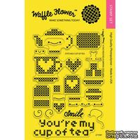 Силиконовый штамп от Waffle Flower - Stitched Cup of Tea Stamp Set