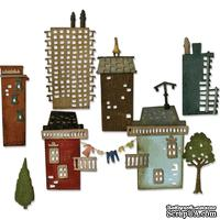 Ножи от Tim Holtz Alterations - Thinlits - Suburbia Cityscape - Die Set 34 Pack