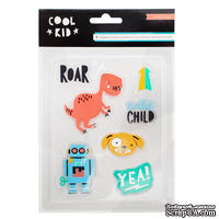 Акценты резиновые от Crate Paper -  Cool Kid - Rubber Accents, 7 шт
