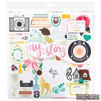 Высечки из чипборда от Crate Paper - Maggie Holmes Open Book Chipboard - Accents - 30x30 см, 44 шт.