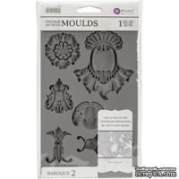 Молды силиконовые от Prima - Iron Orchid Designs Vintage Art Decor Mould - Baroque 2