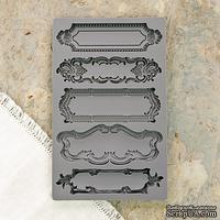 Молды силиконовые от Prima - Iron Orchid Designs - Vintage Art Decor Mould - Object Labels 1