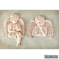 Набор украшений Prima - Shabby Chic Resin Treasures Cherub with Bird, 2 шт.