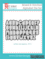 Нож для вырубки от Lil' Inker Designs - Mixed & Stitched Alphabet Die Set