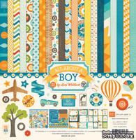 Набор бумаги от Echo Park - All About a Boy Collection Kit, 30х30см