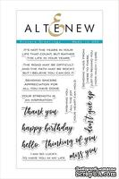 Штампы от Altenew - Sincere Greetings Stamp Set
