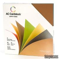 Картон American Crafts - Cardstock Variety Packs - Earthtones, осенние цвета, 30 х 30 см.