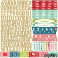 Наклейки - Алфавит от Echo Park - Beautiful Life Collection - 12 x 12 Cardstock Stickers - Alphabet, 30x30