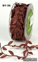Лента от May Arts - Leaves Ribbon - RUST, 90 см  (дина листика 12 мм)