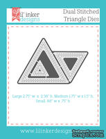 Ножи для вырубки от Lil' Inker Designs - Dual Stitched Triangle Dies
