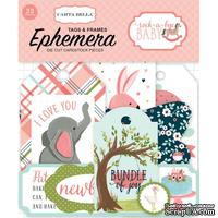 Высечки Carta Bella Rock-A-Bye Girl Frames and Tags Ephemera