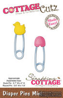 Лезвие CottageCutz - Diaper Pins Mini, 4,5х4,5 см