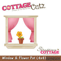 Лезвие CottageCutz - Window & Flower Pot, 10х10 см