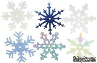 Снежинки из пластика Creative Impressions -  Large Shimmer Snowflakes, 50 штук