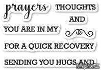 Набор  штампов от Memory Box - Prayers Sentiments clear stamp set