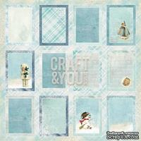 Лист скрапбумаги c картинками от Craft and You Design - Frozen Paper,  30х30 см, CP-FP07