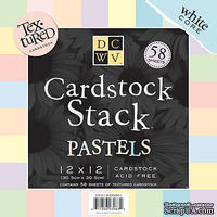 Набор кардстока DCWV - Pastels MM Textured Cardstock Stack, 30х30 см, 19 листов