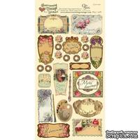 Набор наклеек Crafty Secrets - French Labels - Heartwarming Vintage Cardstock Stickers