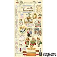 Набор наклеек Crafty Secrets - What's Cooking - Heartwarming Vintage Cardstock Stickers