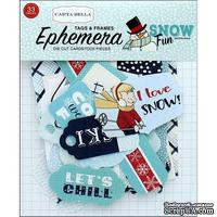 Высечки Carta Bella - Snow Fun - Ephemera Frame&Tags