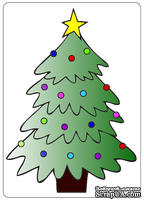 Папки для тиснения Crafts Too Embossing Folder -Christmas Tree