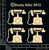 Чипборд от Dusty Attic - Telephones №2, 4 шт.