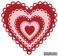 Лезвие Lifestyle Crafts - QuicKutz - Nesting Lace Hearts