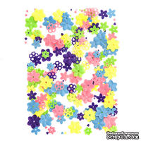 Пайетки Flowers цветочки, 20 г, TM dpCraft (Dalprint)