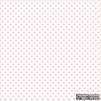 Лист веллума в розовый горошек от Echo Park Vellum Pack - Blush Bunny, 30х30 см, 30х30 см