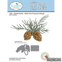 Ножи от Elizabeth Craft Designs - Garden Notes - Whitepine Boughs & Pinecone