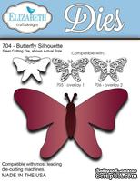 Нож  от   Elizabeth  Craft  Designs  -  Butterfly  Silhouette,  4  элемента.
