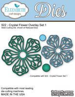 Ножи от Elizabeth Craft Designs - Crystal Flower Overlay Set 1