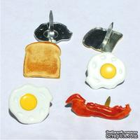 Набор брадсов Eyelet Outlet - Breakfast Brads, 12 штук