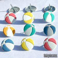 Набор брадсов Eyelet Outlet - Beach Ball Brads, 12 штук