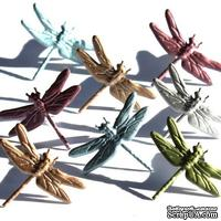 Набор брадсов Eyelet Outlet - Dragonfly Brads - Metallic, 12 шт