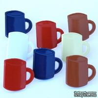 Набор брадсов Eyelet Outlet - Coffee Mug Brads, 12 штук