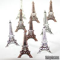 Набор брадсов Eyelet Outlet - Eiffel Tower Brads, 12 штук