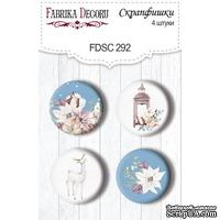 Набор скрапфишек Winter Love Story, TM Fabrika Decoru из 4 шт № 292