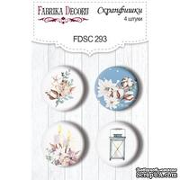 Набор скрапфишек Winter Love Story, TM Fabrika Decoru из 4 шт № 293