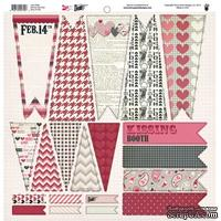 Высечки Fancy Pants - Love Note Banner Die Cuts, размер 30х30 см.