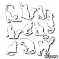 Набор лезвий Frantic Stamper - Cutting Die - Ten Fun Felines - Кошечки