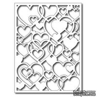 Лезвие Frantic Stamper Precision Die - Open Hearts Card Panel