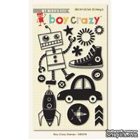 Акриловые штампы My Mind's Eye - Boy Crazy - Clear Acrylic Stamps