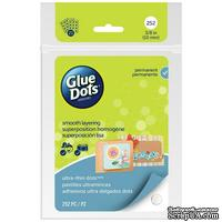 Клеевые капли Glue Dots - Ultra Thin - Sheets, 252 штуки, 10 мм, в листах