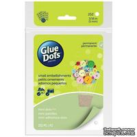 Клеевые капли Glue Dots - Mini - Sheets, 252 штуки, 5 мм, в листах