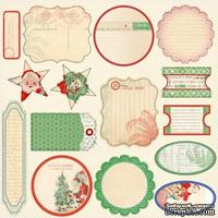 Высечки от Melissa Frances - Countdown To Christmas Cardstock Die - Cuts.Размер от 3,5 х 6,5 см до 5,5 х 10 см