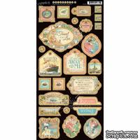 Высечки из чипборда Graphic 45 - Come Away With Me - Decorative Chipboard, 18х30 см
