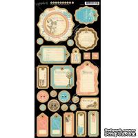 Высечки из чипборда Graphic 45 - Come Away With Me - Journaling Chipboard, 18х30 см