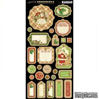 Высечки из чипборда Graphic 45 - Twas the Night Before Christmas - Chipboard, размер 18х30 см